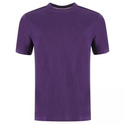 2XL Slaz Plain Tee Snr 00 Purple XXL