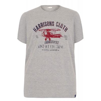 6XL BadRhino Grey Print T-Shirt XXXXXXL