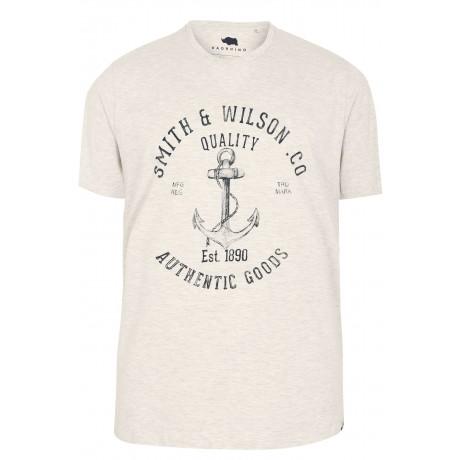 4XL BadRhino Grey Print T-Shirt XXXXL