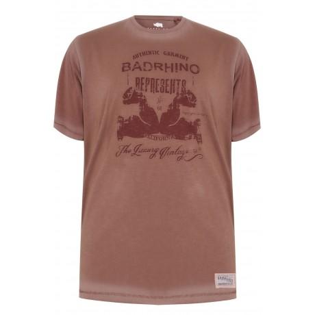 2XLT BadRhino Navy Crew T-Shirt Long Tale XXL