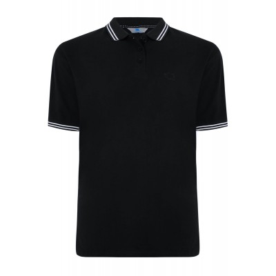 Tipped Polo Black