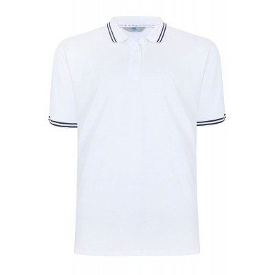 Tipped Polo White