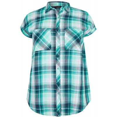 Blue & Green Pastel Checked Shirt