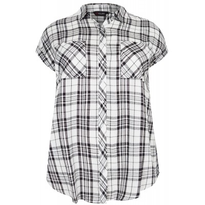 White & Black Pastel Checked Shirt