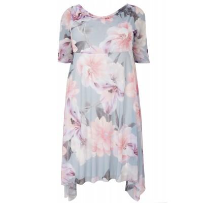 Šaty Floral Mesh 52-66