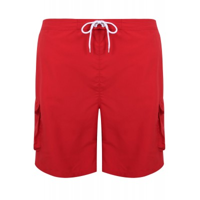 Red Cargo Swim Shorts